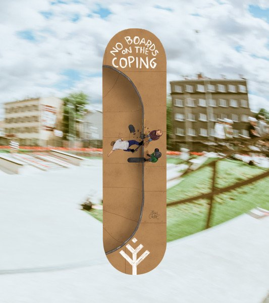 BOARDS.LV DECK NO BOARDS COPING 8.25