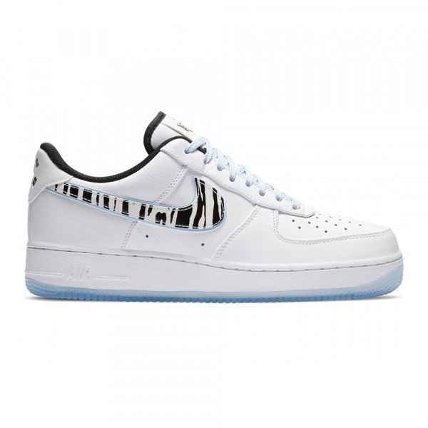 NIKE APAVI AIR FORCE 1 07 QS WHITE BLACK MULTI COLOR