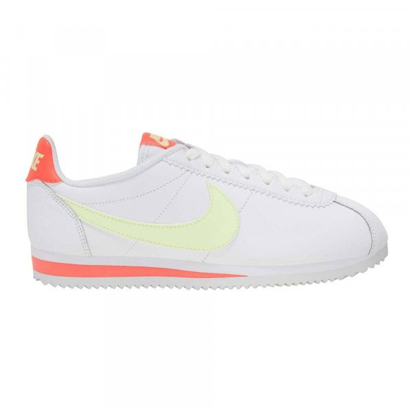 NIKE APAVI CLASSIC CORTEZ LEATHER W WHITE BARELY VOLT