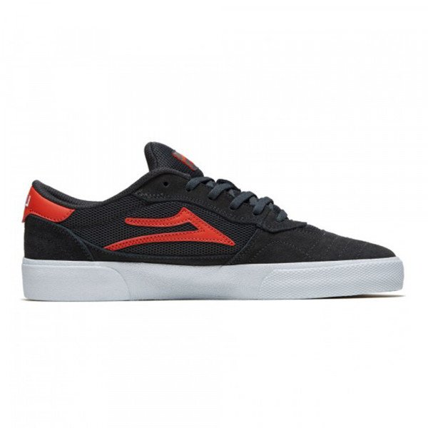 LAKAI APAVI CAMBRIDGE CHARCOAL FLAME SUEDE