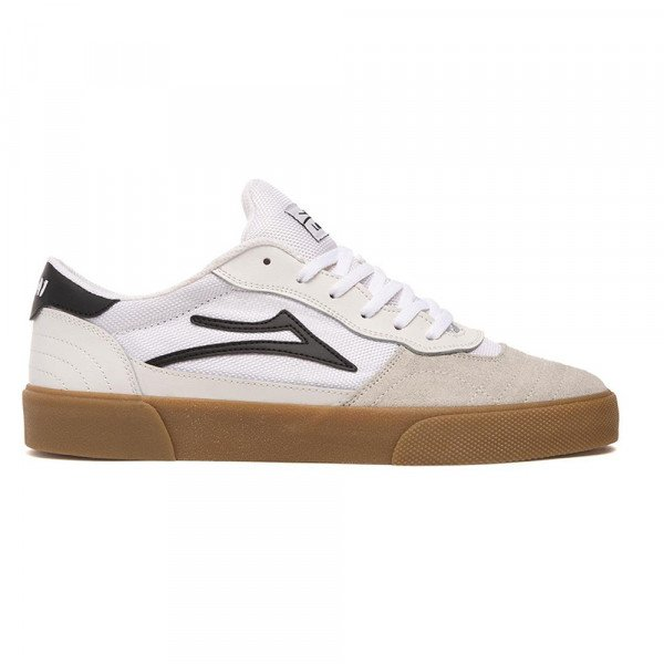 LAKAI APAVI CAMBRIDGE WHITE BLACK SUEDE