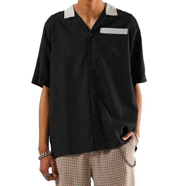 AFENDS SHIRT BOWLO BLACK