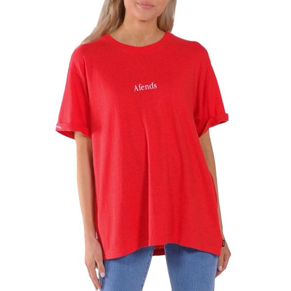 AFENDS T-SHIRT HEMP REVOLUTION FLAME RED