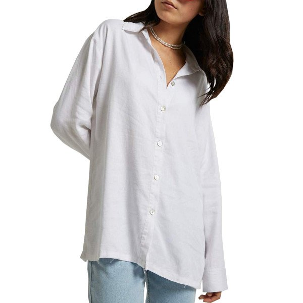 AFENDS SHIRT MIA WHITE