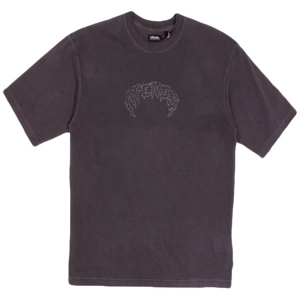 AFENDS T-SHIRT SHOTS FIRED STONE BLACK