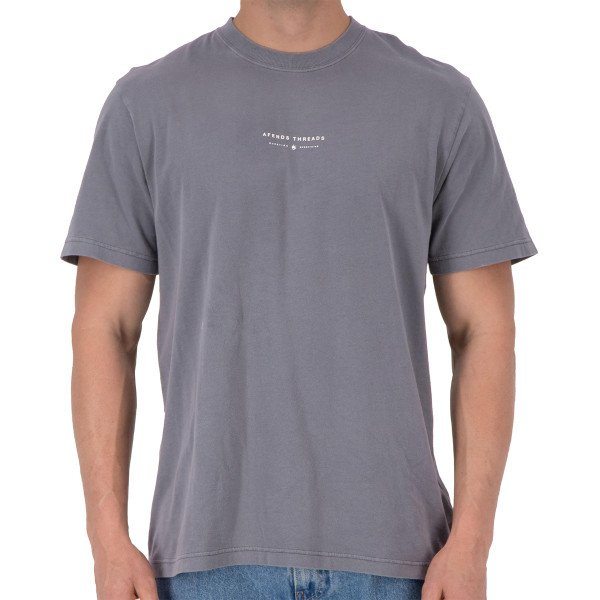 AFENDS T-SHIRT KICKED OUT GUNMETAL