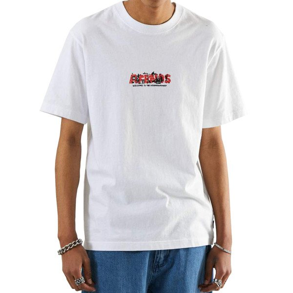 AFENDS T-SHIRT SOCIAL BURNOUT WHITE
