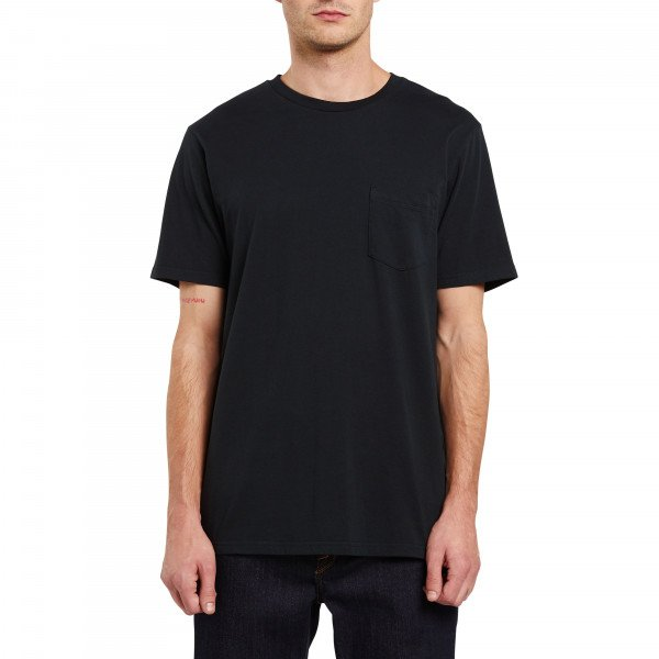 VOLCOM T-SHIRT SOLID S/S POCKET BLK