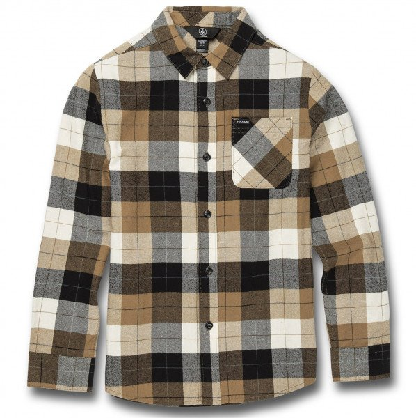 VOLCOM SHIRT CADEN PLAID L/S KIDS PWT