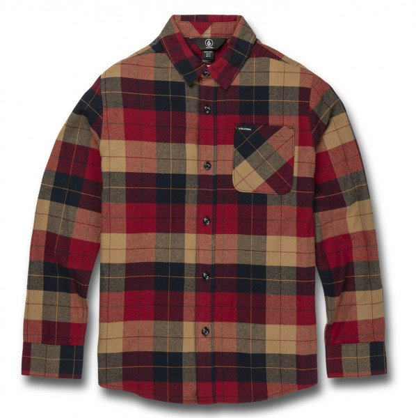 VOLCOM SHIRT CADEN PLAID L/S KIDS RIO
