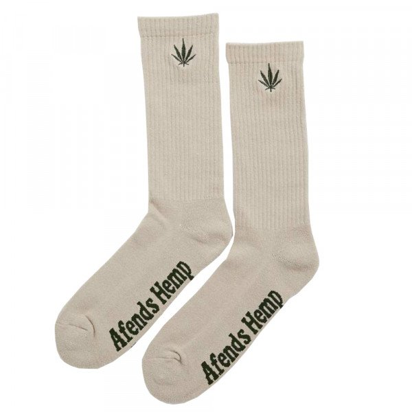 AFENDS SOCKS HAPPY HEMP NATURAL