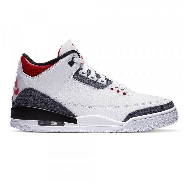 NIKE APAVI AIR JORDAN 3 RETRO SE WHITE BLACK FIRE RED