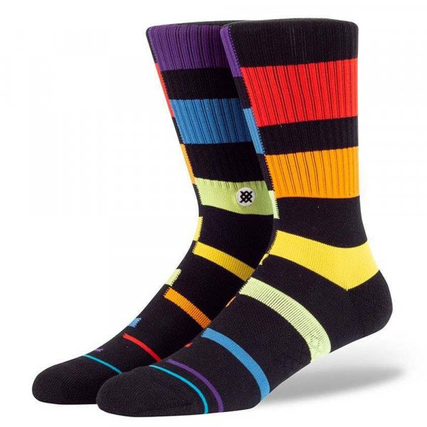 STANCE ZEĶES RAINBOW STRIPE BLACK