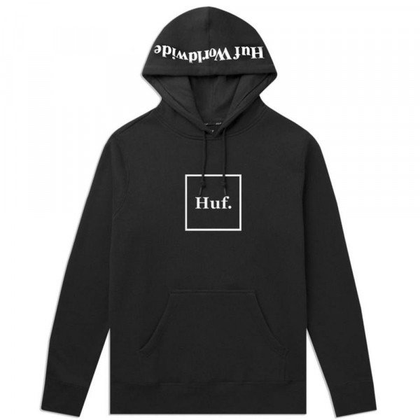 HUF HOOD BOX LOGO BLACK