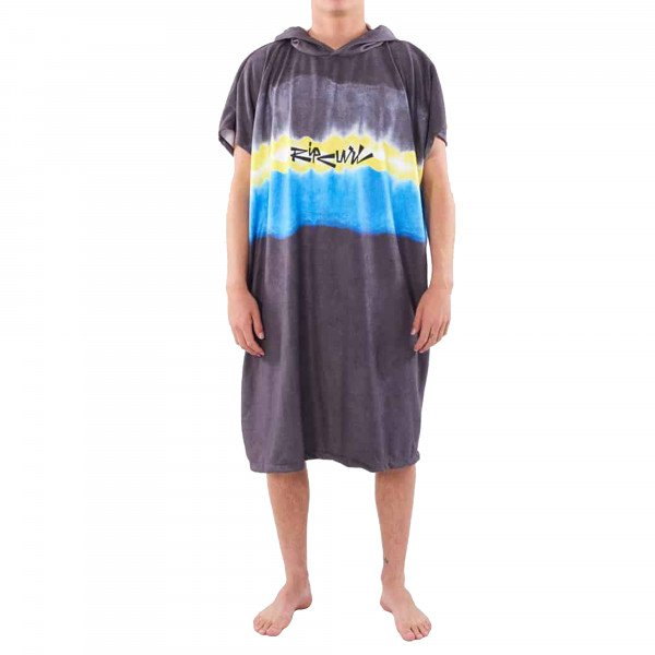 RIP CURL DVIELIS MIX UP HOODED BLACK YELLOW