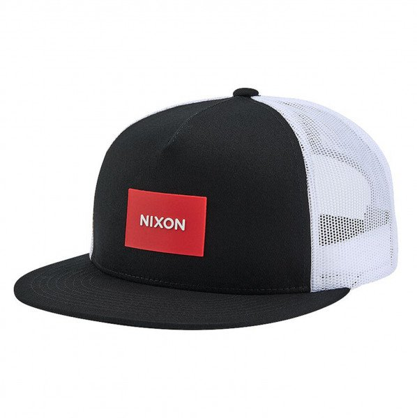 NIXON CEPURE TEAM TRUCKER BLACK RED WHITE