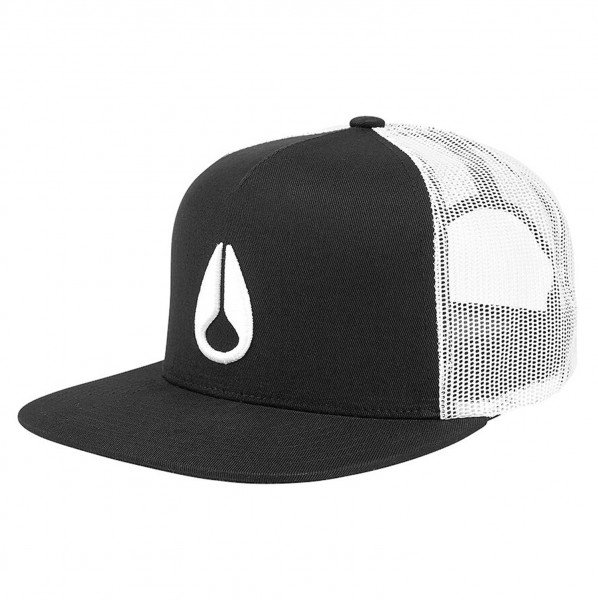 NIXON CEPURE DEEP DOWN TRUCKER BLACK WHITE BLACK
