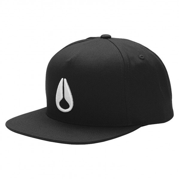 NIXON CEPURE SIMON SNAP BACK BLACK WHITE
