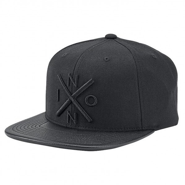 NIXON CEPURE EXCHANGE SNAPBACK ALL BLACK BLACK