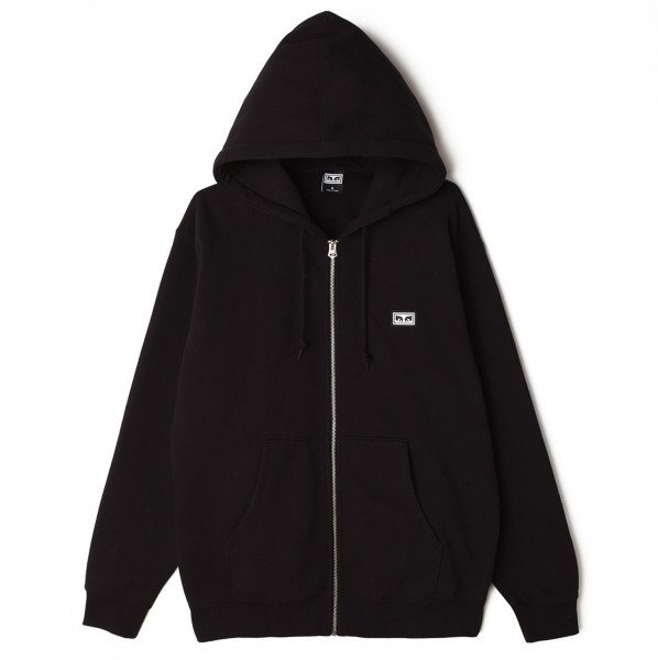 OBEY HOOD ALL EYEZ II ZIP BLK