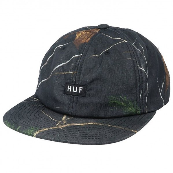 HUF CAP REALTREE 6 PANEL BLACK