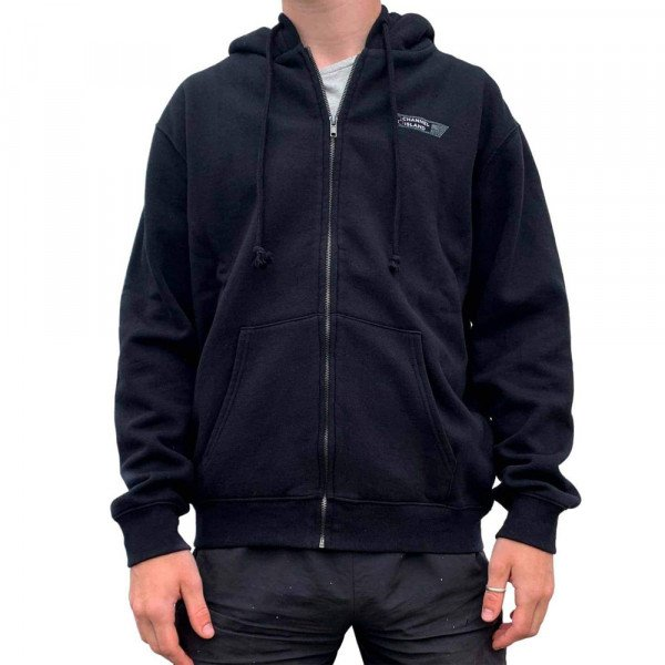 CHANNEL ISLANDS HOOD USA ZIP BLACK