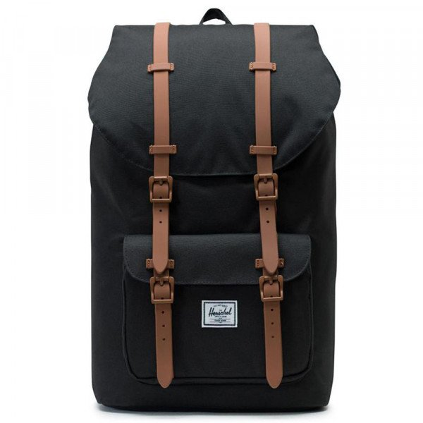 HERSCHEL SOMA LITTLE AMERICA POLY BLACK SADDLE