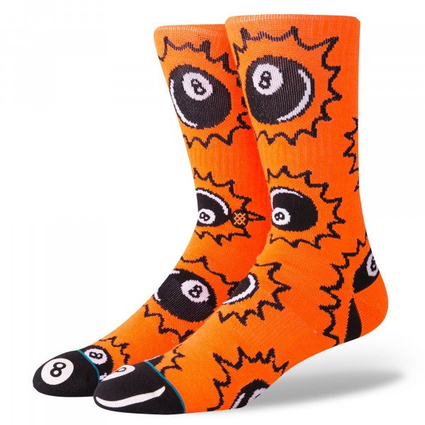 STANCE SOCKS SCRATCHES ORANGE