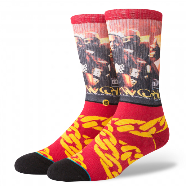 STANCE SOCKS CUBAN LINX BURGUNDY