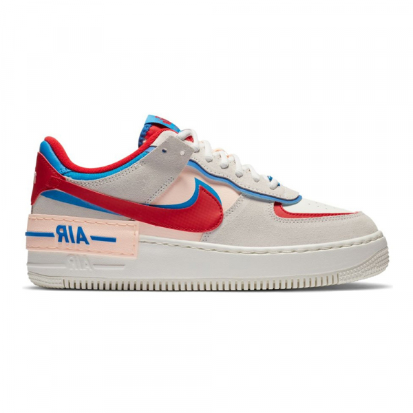 NIKE SHOES AF 1 W SHADOW SAIL PHOTO BLUE ROYAL BLUE UNI RED